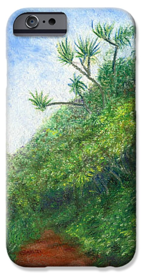 Coastal Decor IPhone 6 Case featuring the painting Along The Trail by Kenneth Grzesik