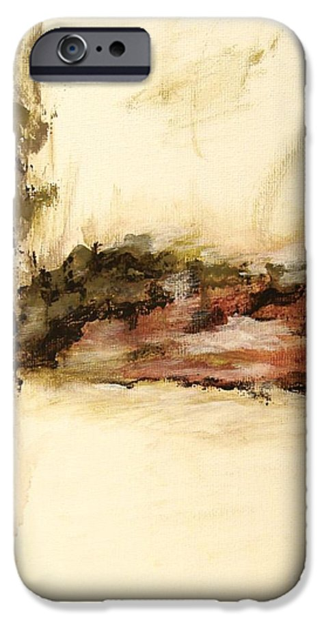 Abstract IPhone 6 Case featuring the painting Ambiguous by Itaya Lightbourne