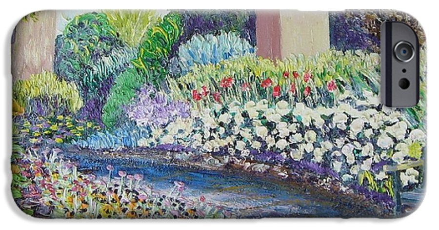 Flowers IPhone 6 Case featuring the painting Amelia Park Pathway by Richard Nowak