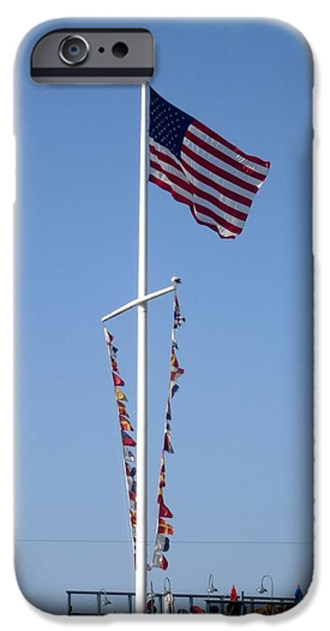 American Flag IPhone 6 Case featuring the photograph American Flag by Shelley Jones