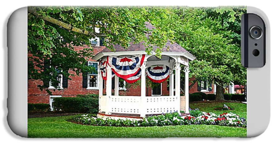 Gazebo IPhone 6 Case featuring the photograph American Gazebo by Margie Wildblood