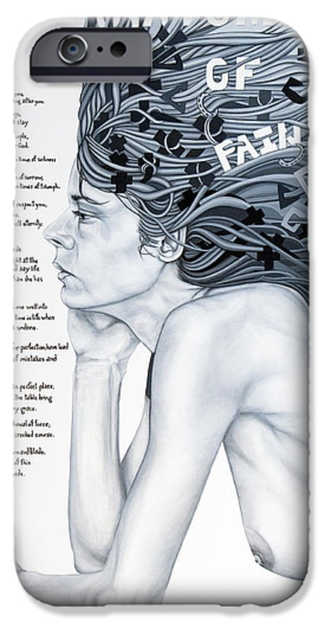 Poetry IPhone 6 Case featuring the painting Anatomy Of Pain by Judy Henninger