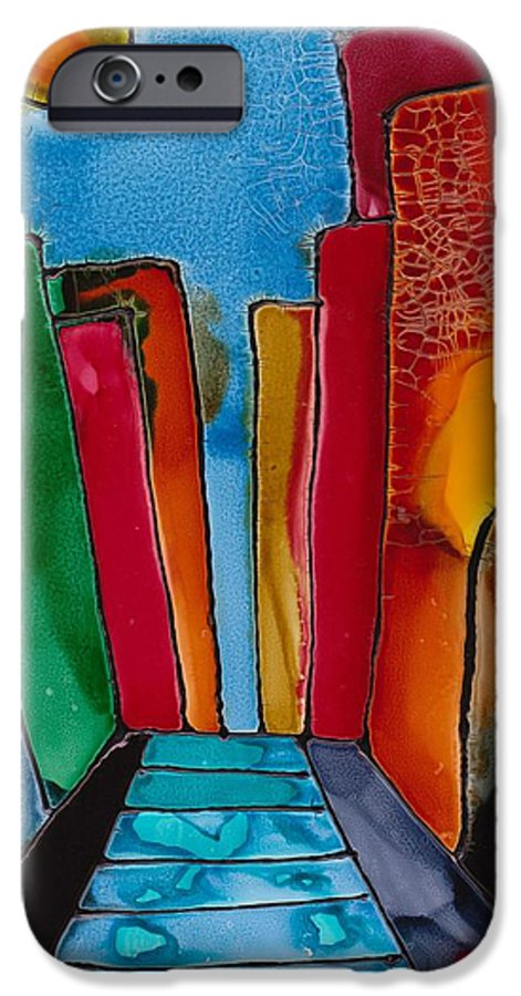 City IPhone 6 Case featuring the mixed media Ancient City by Susan Kubes