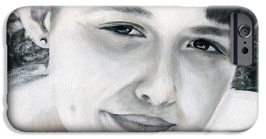 Portrait IPhone 6 Case featuring the painting Ane by Fiona Jack