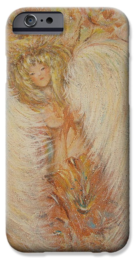 Angel IPhone 6 Case featuring the painting Angel Loves You by Natalie Holland