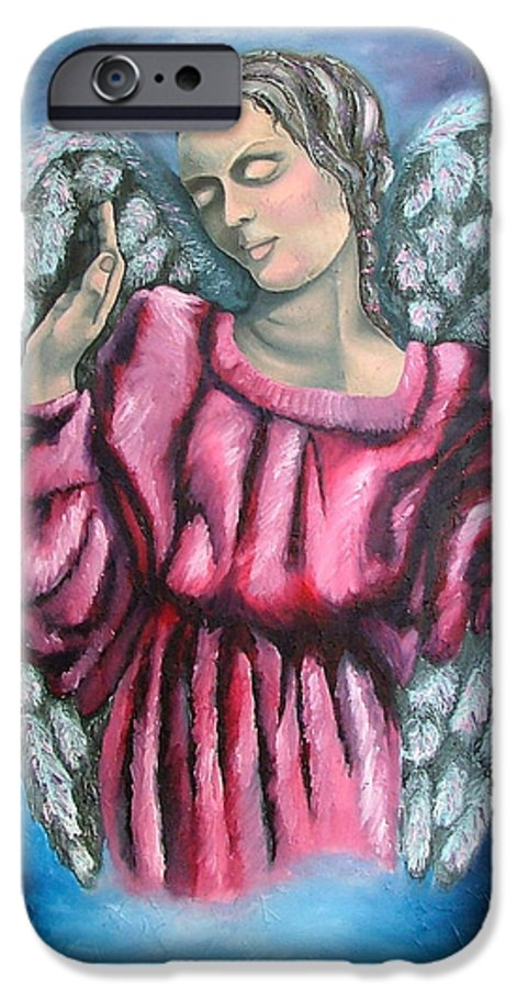 Angel IPhone 6 Case featuring the painting Angel Of Hope by Elizabeth Lisy Figueroa