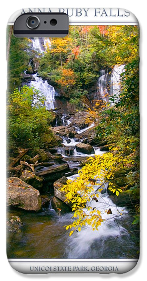 Landscape IPhone 6 Case featuring the photograph Anna Ruby Falls by Peter Muzyka