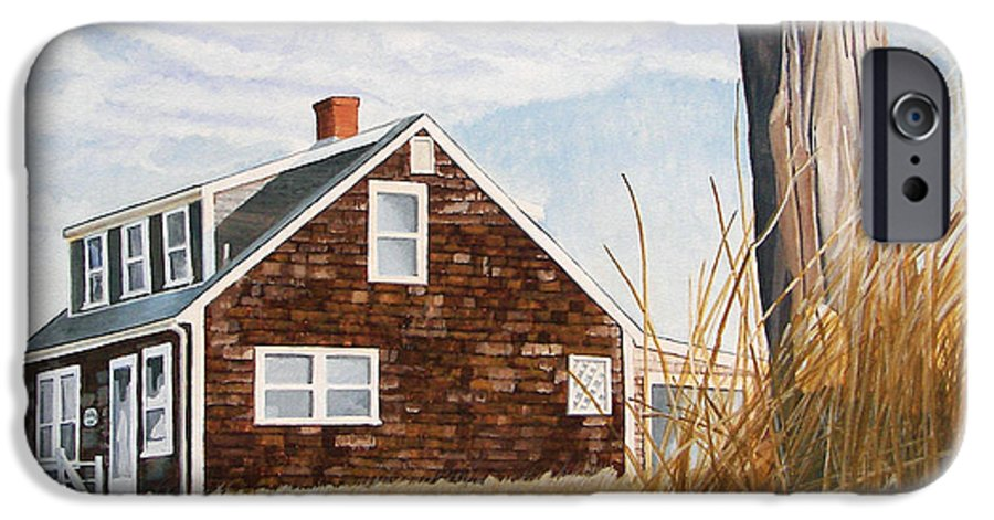 Landscape IPhone 6 Case featuring the painting Another New England Sunrise by Dominic White