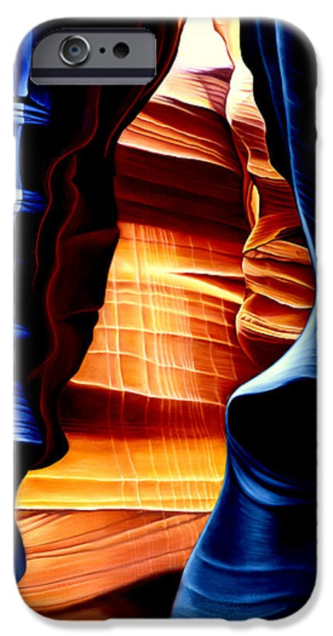 Landscape IPhone 6 Case featuring the painting Antelope Canyon by Anni Adkins