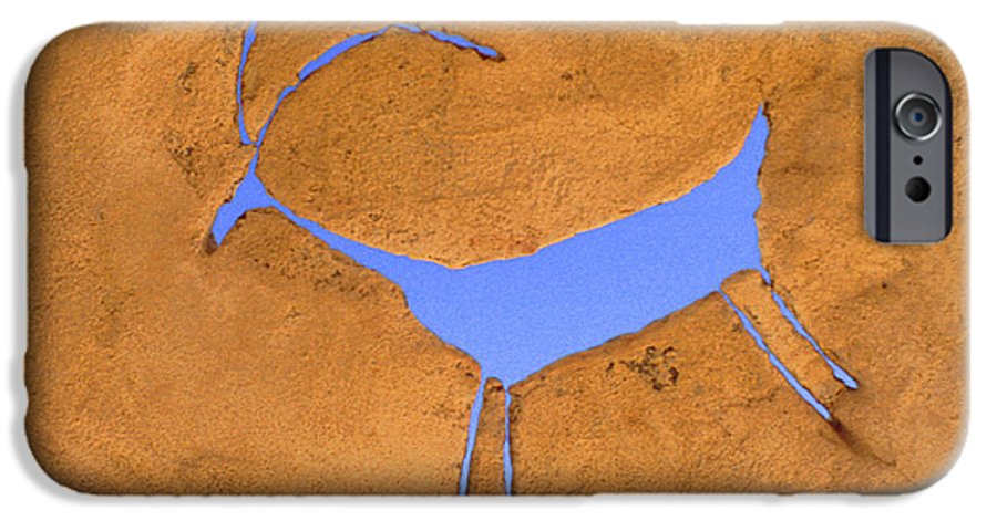 Anasazi IPhone 6 Case featuring the photograph Antelope Petroglyph by Jerry McElroy
