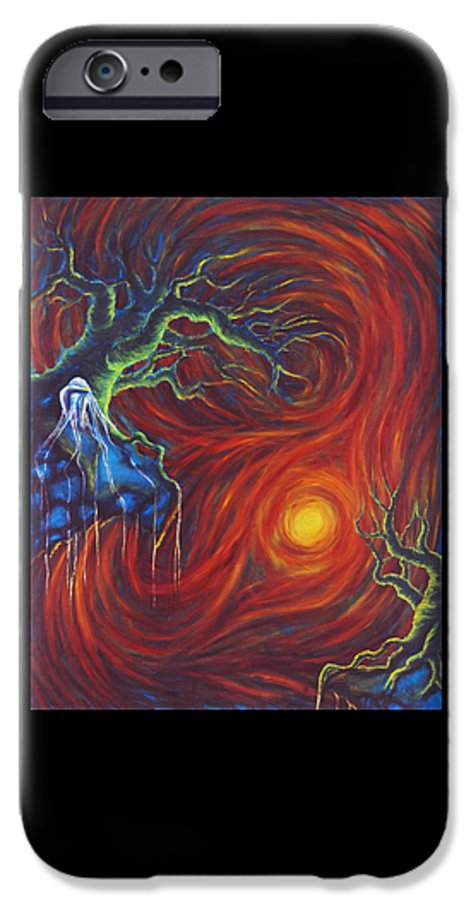 Tree Paintings IPhone 6 Case featuring the painting Anxiety by Jennifer McDuffie