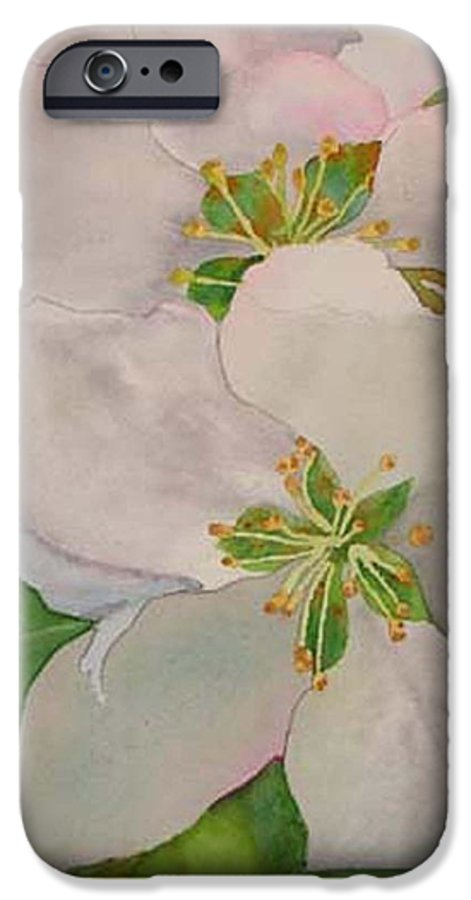 Apple Blossoms IPhone 6 Case featuring the painting Apple Blossoms by Sharon E Allen