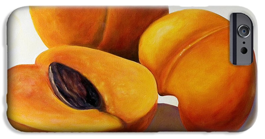 Apricots IPhone 6 Case featuring the painting Apricots by Shannon Grissom