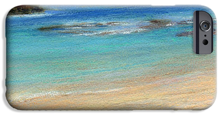Coastal Decor IPhone 6 Case featuring the painting Aqua Moloa'a by Kenneth Grzesik