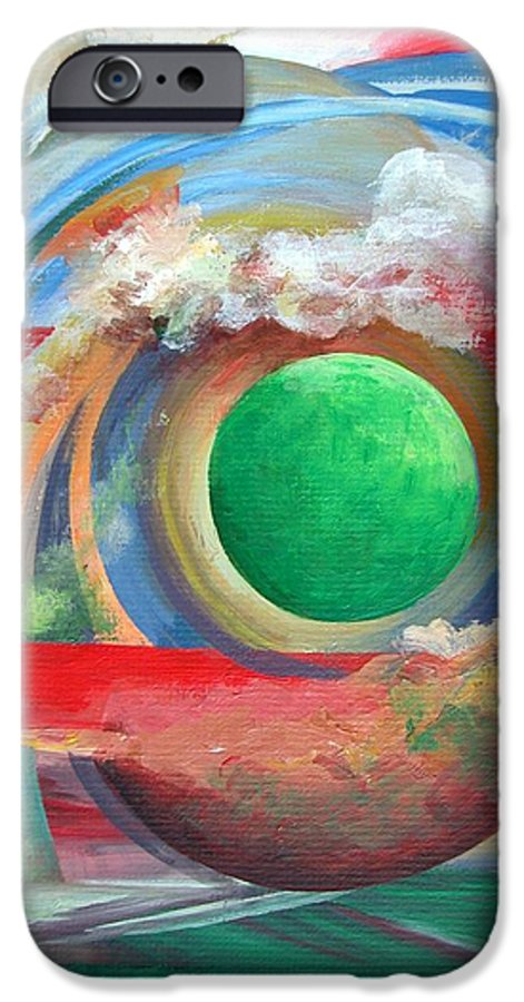 Abstract IPhone 6 Case featuring the painting Arc by Muriel Dolemieux
