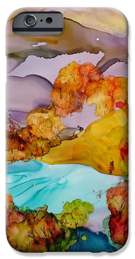 Fall IPhone 6 Case featuring the mixed media Arcadia by Susan Kubes