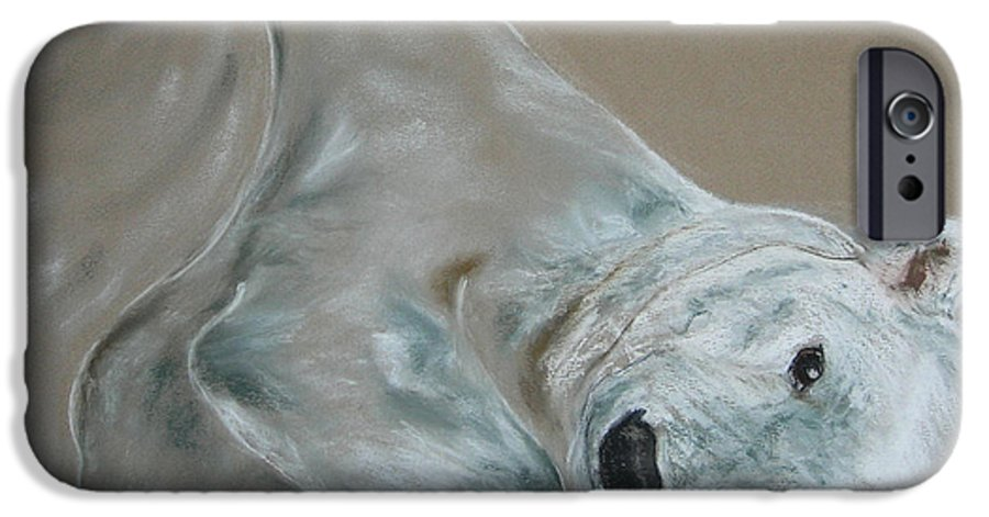 Polar Bear IPhone 6 Case featuring the drawing Arctic Frolic by Cori Solomon