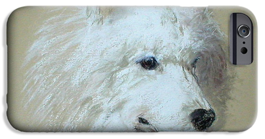 Dog IPhone 6 Case featuring the drawing Arctic Serenity by Cori Solomon