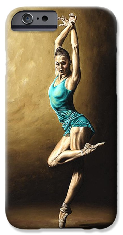 Dance IPhone 6 Case featuring the painting Ardent Dancer by Richard Young