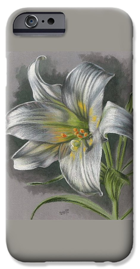 Easter Lily IPhone 6 Case featuring the mixed media Arise by Barbara Keith