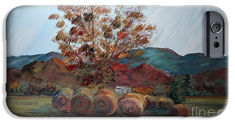 Autumn IPhone 6 Case featuring the painting Arkansas Autumn by Nadine Rippelmeyer