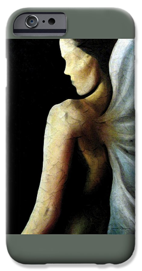 Angel IPhone 6 Case featuring the painting Armaita Angel Of Truth Wisdom And Goodness by Elizabeth Lisy Figueroa
