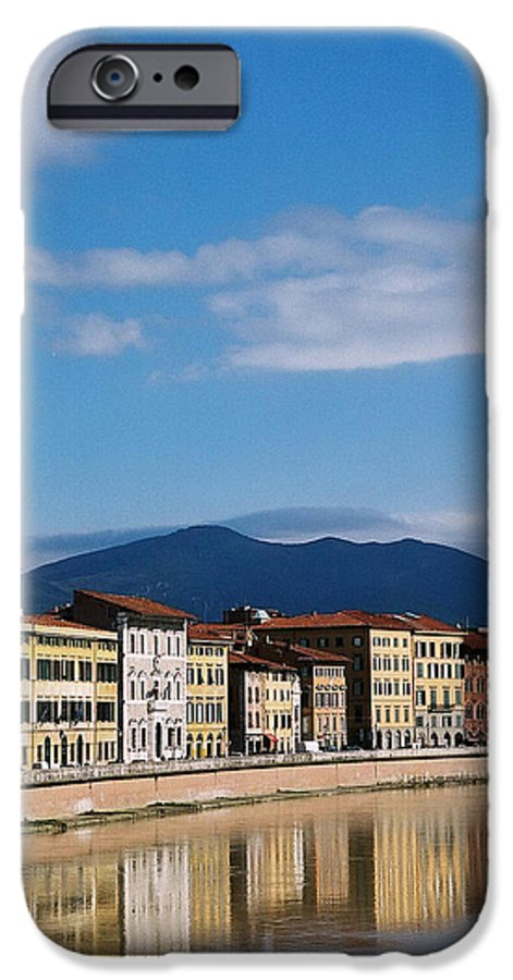 Pisa IPhone 6 Case featuring the photograph Arno River Pisa Italy by Kathy Schumann