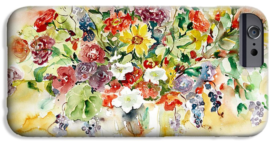 Watercolor IPhone 6 Case featuring the painting Arrangement IIi by Alexandra Maria Ethlyn Cheshire