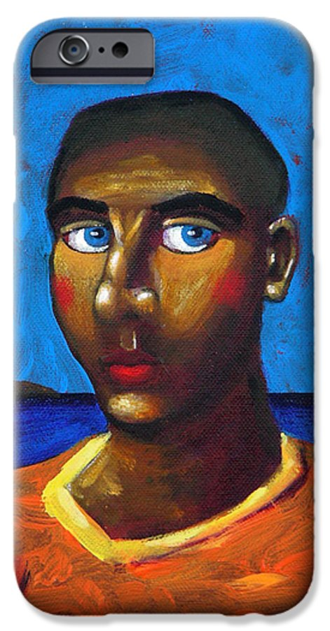 Arsonist IPhone 6 Case featuring the painting Arsonist by Dimitris Milionis