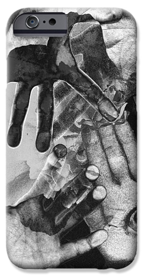 Hands IPhone 6 Case featuring the photograph Artist's Hands by Nancy Mueller