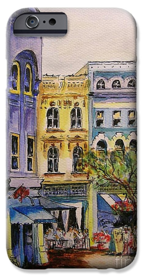 Townhouses IPhone 6 Case featuring the painting Asheville by Lizzy Forrester