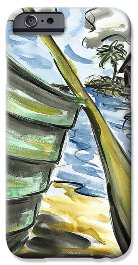 Seascape IPhone 6 Case featuring the painting Ashore by Robert Joyner