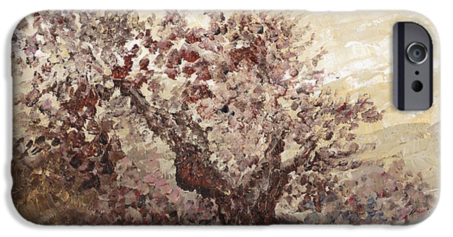 Landscape IPhone 6 Case featuring the painting Asian Mist by Nadine Rippelmeyer