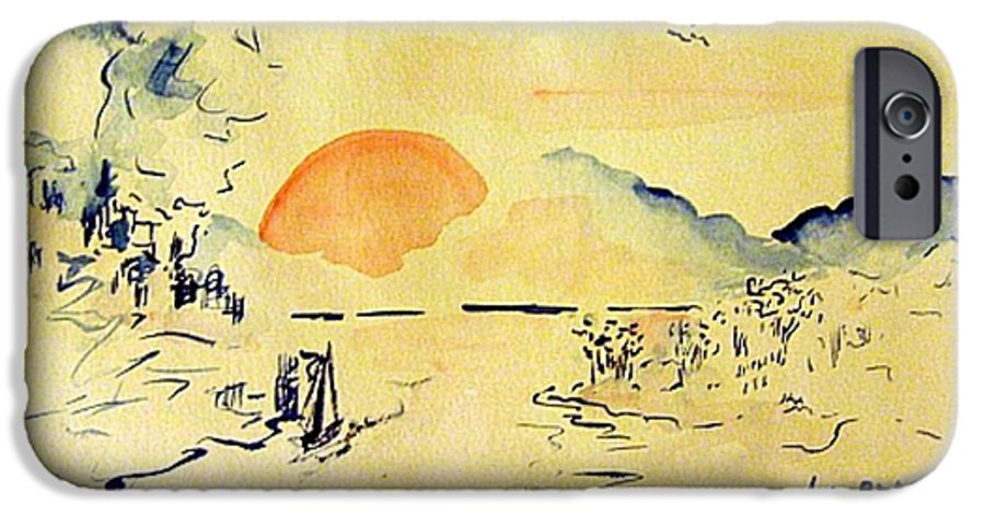 Asia IPhone 6 Case featuring the painting Asian Sunrise by Andrew Gillette
