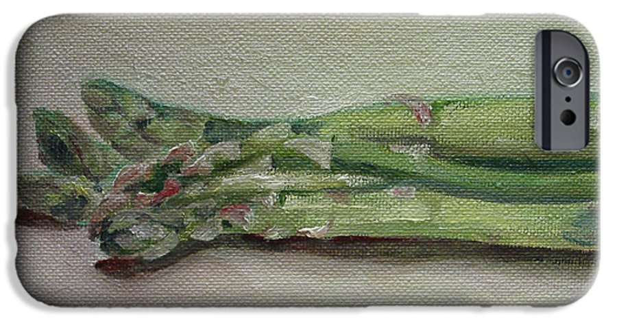 Food IPhone 6 Case featuring the painting Asparagus by Sarah Lynch