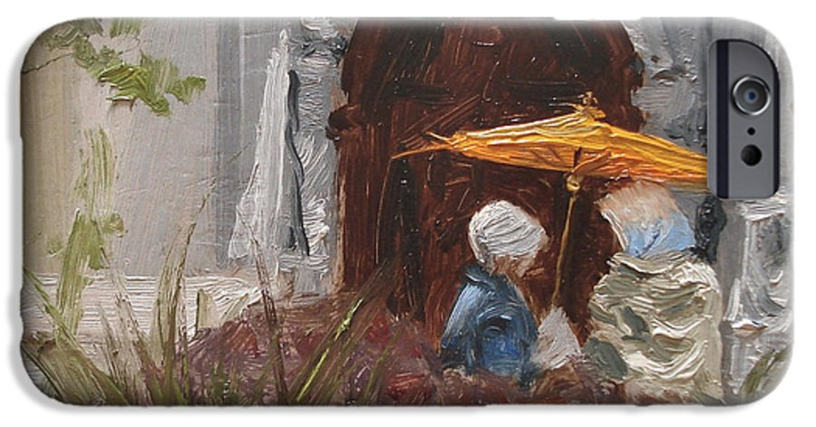 Parks IPhone 6 Case featuring the painting At Balboa Park by Barbara Andolsek