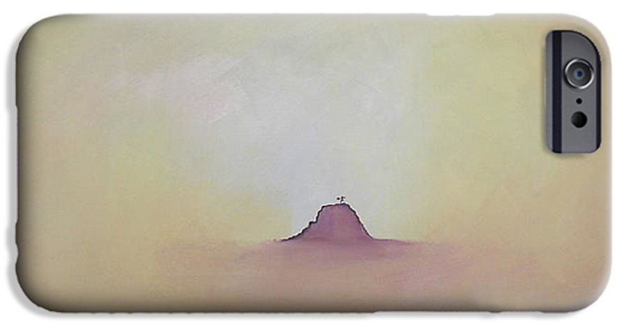 Abstract IPhone 6 Case featuring the painting At Peace by Bojana Randall