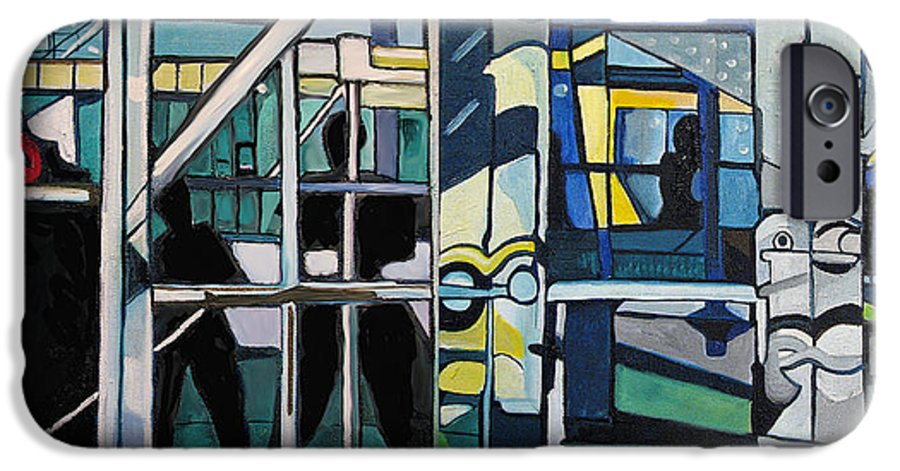 Abstract IPhone 6 Case featuring the painting Atlanic City Abstract No.1 by Patricia Arroyo