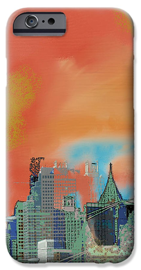 Atlanta IPhone 6 Case featuring the mixed media Atlanta Abstract After The Tornado by Ann Tracy