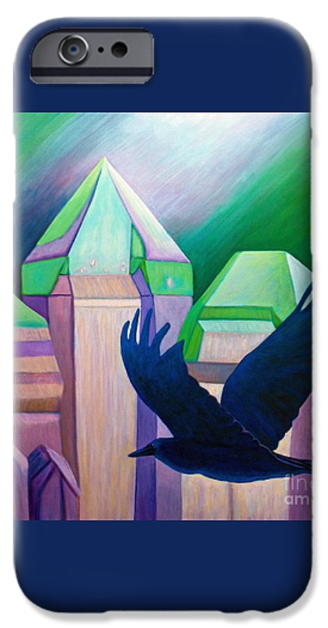 Crystals IPhone 6 Case featuring the painting Atlantis by Brian Commerford