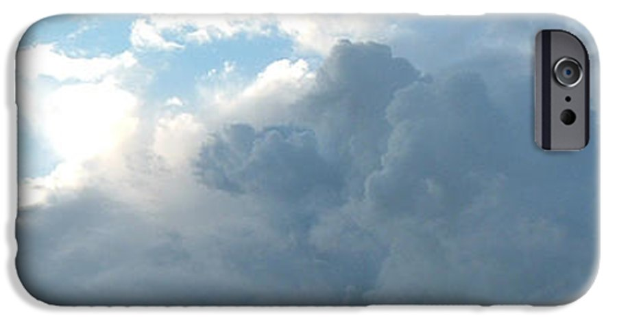 Sky IPhone 6 Case featuring the photograph Atmospheric Barcode 19 7 2008 16 by Donald Burroughs