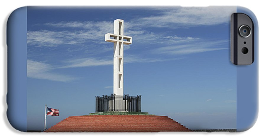 Mt Soledad IPhone 6 Case featuring the photograph Atop Mt Soledad by Margie Wildblood