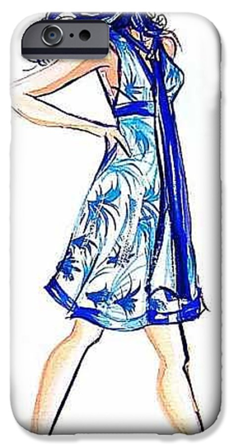 Girl With Attitude IPhone 6 Case featuring the painting Attitude by Laura Rispoli