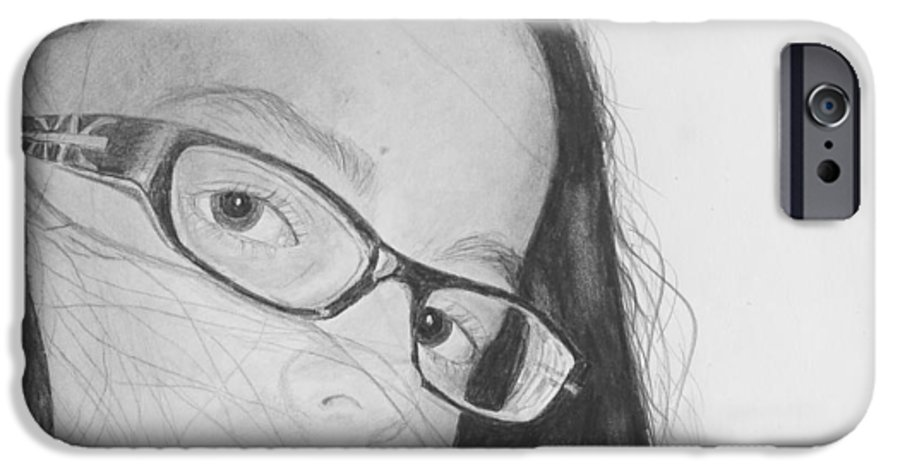 Portrait IPhone 6 Case featuring the drawing Attitude by Quwatha Valentine