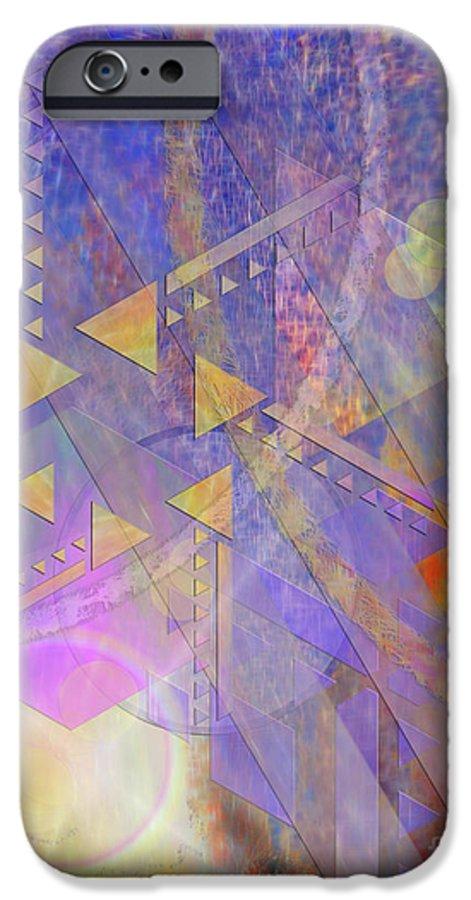 Aurora Aperture IPhone 6 Case featuring the digital art Aurora Aperture by John Beck