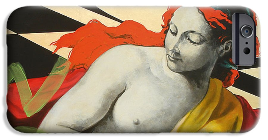 Mythology IPhone 6 Case featuring the painting Aurora by Jean Pierre Rousselet