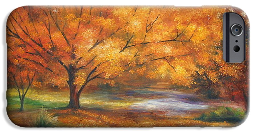 Fall IPhone 6 Case featuring the painting Autumn by Ann Cockerill