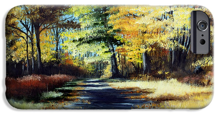 Landscape IPhone 6 Case featuring the painting Autumn Colors by Paul Walsh