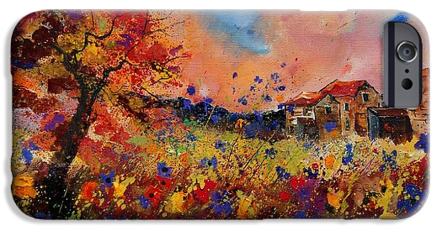 Poppies IPhone 6 Case featuring the painting Autumn Colors by Pol Ledent