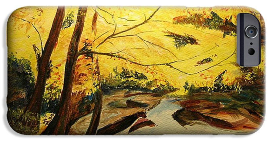 Trees In Autumn IPhone 6 Case featuring the painting Autumn Colours by Lizzy Forrester